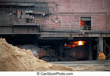 Steel Mill Blast Furnace - Steelmill blast furnace factory...