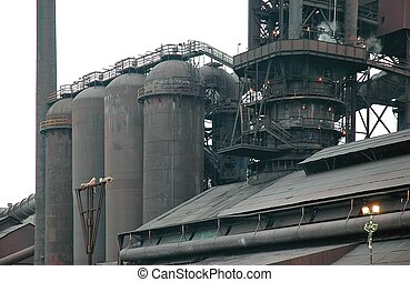 Steel Mill Blast Furnace - Steelmill blast furnace factory...