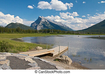 Vermillion Lakes and Dock - View on beautiful Vermillion...