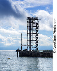 belvedere at lake Bodensee - At the edge of the lake...