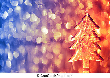 christmas three on shiny background - christmas three on...