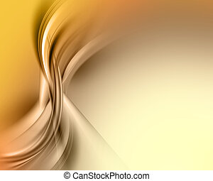 Abstract background with smooth flowing curves