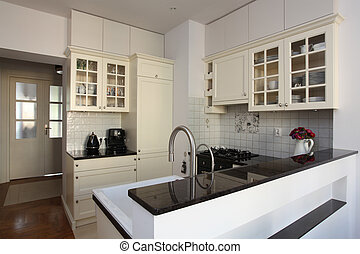 Bright kitchen - New kitchen with bright furniture and...