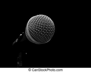 Mic - Dynamic microphone isolated on black