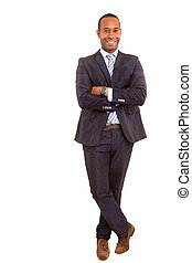 African business man - young handsome african business man...