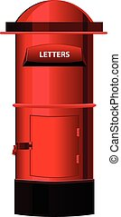 Post Box or letter box Vector