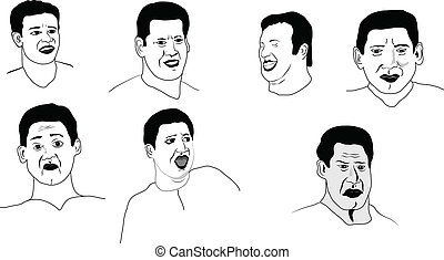 Vector face expressions