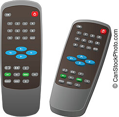 Remote control - Vector of Remote control for Television