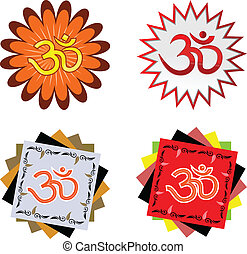 symbol OHM  - Hindu religion symbol OHM