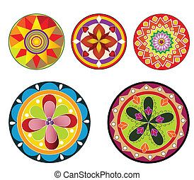 Floral Circular design of Flower, It can also be used for...