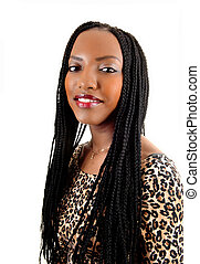 Closeup of black girl - A closeup picture of a young pretty...