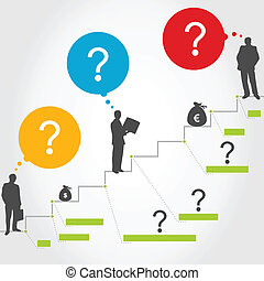 Business ladder3 - Business a ladder of successes. A vector...