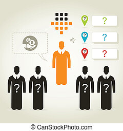 Person business4 - The businessman in group of people. A...