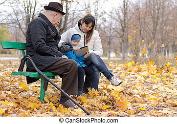 Family enjoying a day in the park