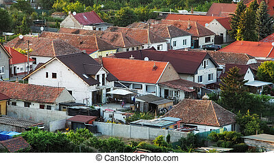 Houses - aerial view, Slovakia