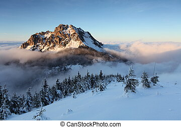 Mount Rozsutec at winter