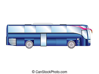Vector illustration urban / suburban passenger bus isolated...