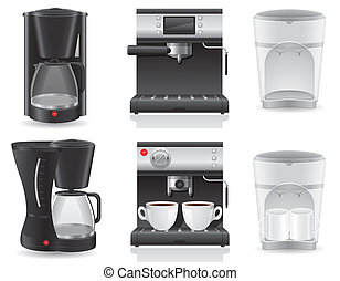 coffee maker vector illustration isolated on white...