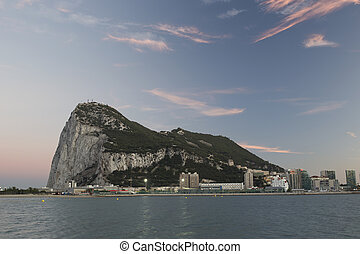 rock of gibraltar - the rock of gibraltar at sunset