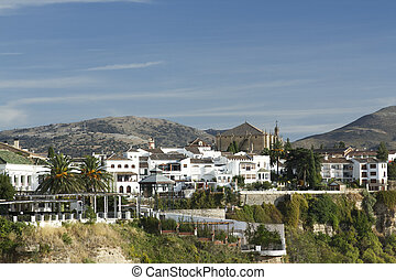 ronda spain - view of the beautiful city of ronda in...