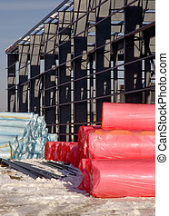 Building Insulation Rolls - New construction site insulation...
