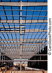Structural Steel Girders - Steel Frame of new building...