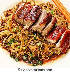 pato, Fideo, alimento, Asia