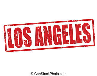Los Angeles stamp - Los Angeles grunge rubber stamp on...