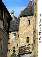 A street in the center of Sarlat