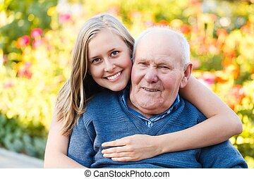 Loving granddaugher - Beautiful granddaughter visiting her...