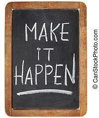 make it happen on blackboard