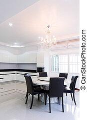Interior house, Empty modern kitchen