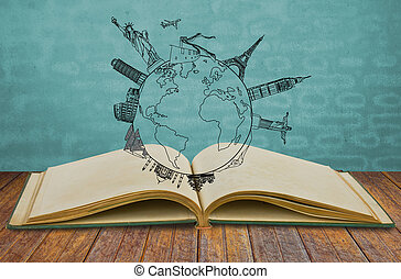Book of travel (Japan,France,Italy ,New York,India,egypt)