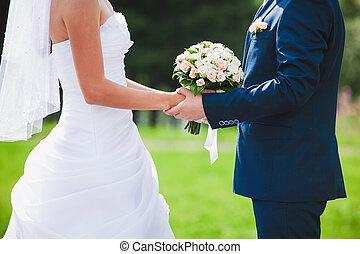 vacker, bröllop, ceremoni