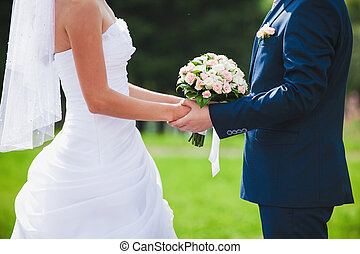 beautiful wedding ceremony - fragment like photo of...