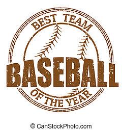 Baseball stamp - Baseball grunge rubber stamp on white,...