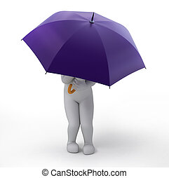 the violet umbrella, 3d image with work path