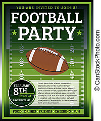 Football Party Flyer
