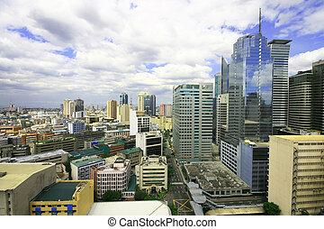 urban buildings - colorful urban buildings at makati...