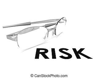 Risk spectacle - Hi-res original 3d rendered computer...