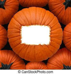 Pumpkin Blank Sign