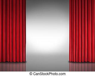 rojo, cortina, entretenimiento, Plano de fondo