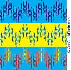 wavy dotted line patterns - set of three wavy dotted line...