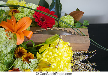 Floral arrangement. - Beautiful floral arrangement with...
