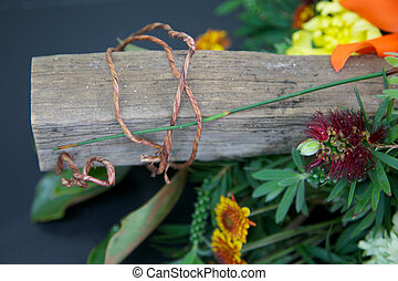 Floral arrangement. - Beautiful floral arrangement with...