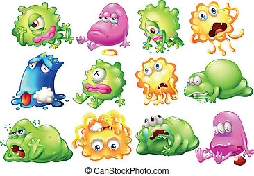 Sad and dying monsters