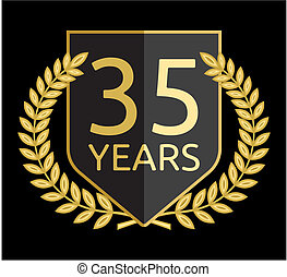Golden laurel wreath 35 years