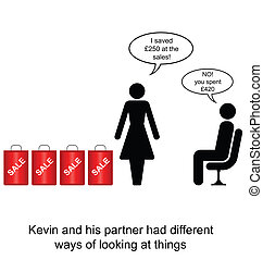 Different Opinions - Kevin and his partner had different...