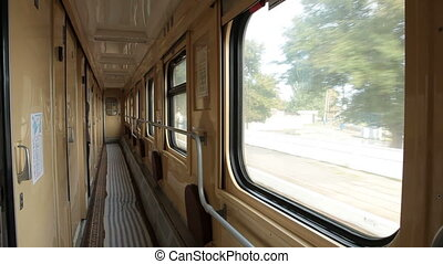 inside the railroad car