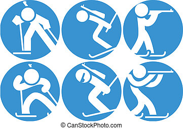 Biathlon icons set - Biathlon icon set